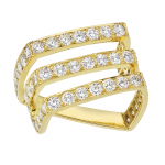 Diamond ring set in 18KT yellow gold.