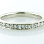 Platinum and Diamond Pavé set Partial Eternity Band