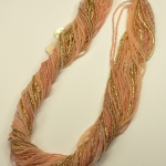Italian Glass Bead Multi Strand, Peach Necklace