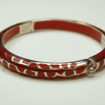 Sterling Silver and red Acrylic safari motif Braclet