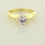 Modern Diamond Solitaire in 18KT Yellow Gold