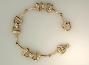 14KT yellow gold dee bit bracelet view 2