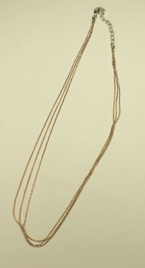 18KT Rose Gold Vermeil on Sterling 3 Strand Chain Necklace