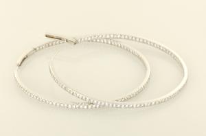 diamond hoop earring 4.50ct.