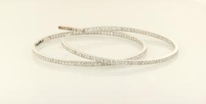 4.50ct. diamond inside out hoop earrings