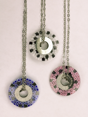 Italian GLass Milli FIori in three colors
