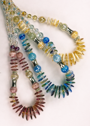 Italian Glass Bead Necklaces in three color choices