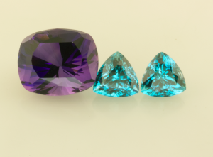 Amethyst and Zircons before setting