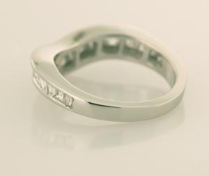 Baguette Diamond Eternity Ring Back