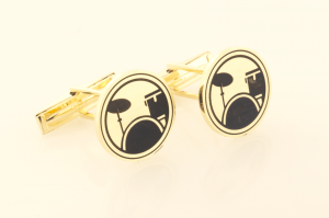 Cufflinks in 14KT yellow Drum set motif