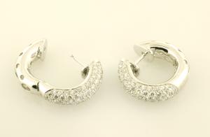 Diamond Huggy Earrings pavé set