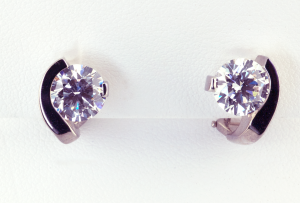 Diamond Contemporary Stud Earring with 1.00ct.diamond