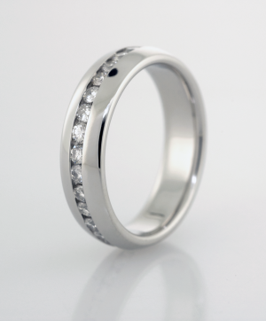 Eternity Band Diamond with domed edges