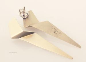 Folded Gold Oragami Earrings