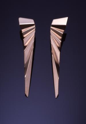 14KT yellow gold folded earrings