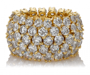 Diamond flexible ring in 18KT Yellow Gold