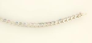 Pastel Sapphire in line bracelet back view