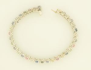 Pastel Sapphire in line bracelet view 2
