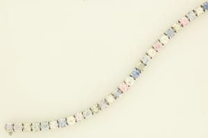 Pastel Sapphire in line bracelet view 5