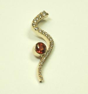 Ruby and diamond contemporary pendant