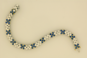 Diamond and Sapphire Flexible Bracelet