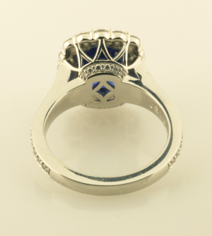 Sapphire Surround RIng Back view 3