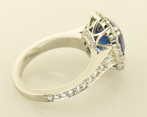 Sapphire Surround RIng Back view