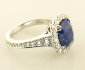 Sapphire Surround RIng Back view 2