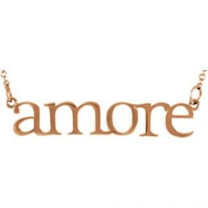 Amore necklace in 14KT yellow gold.