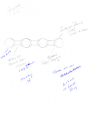 Original Sketch for Round and Baguette diamond Eternity Band