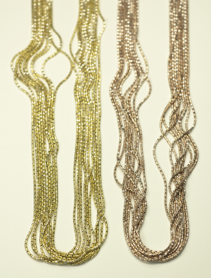 10 strand yellow and rose gold vermeil
