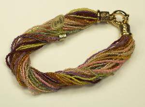 Italian Glass Bead Multi Strand, Colors Bracelet