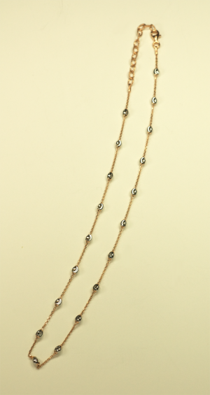 rose gold and white gold vermeil chain