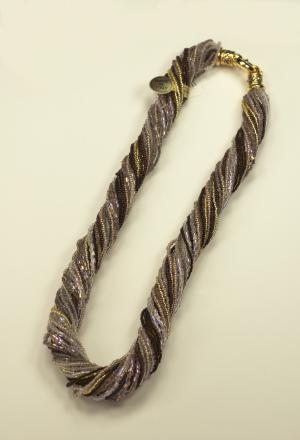 Italian Glass Bead Multi Strand, Tuape Necklace