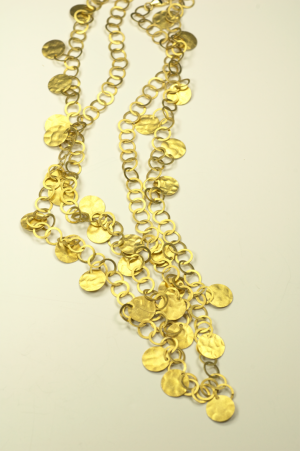 18KT Yellow Gold Vermeil on Sterling Morracan Wedding NecklaceKT White Gold Vermeil on Sterling Morracan Wedding Necklace